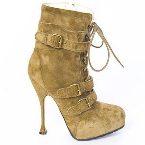 BRIAN ATWOOD NIKI SUEDE MILITARY BUCKLED HEELS